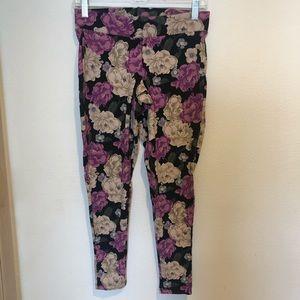 Torrid purple floral leggings pants